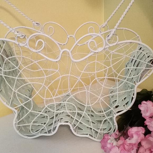 Vintage Wire Butterfly Basket
